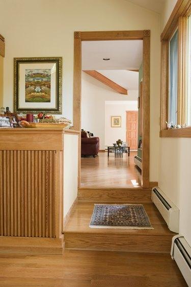 Doorway into living room