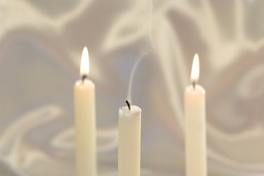Unity candle blown out