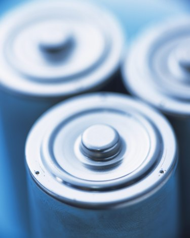 Batteries, Close Up, High Angle View, Differential Focus