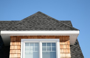 Exterior of house with dormer