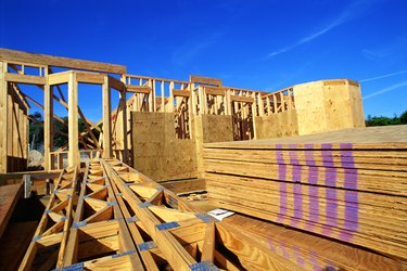 Home construction site