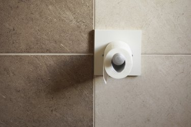 toilet paper roll in bathroom