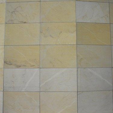 Elevated view of floor tiles