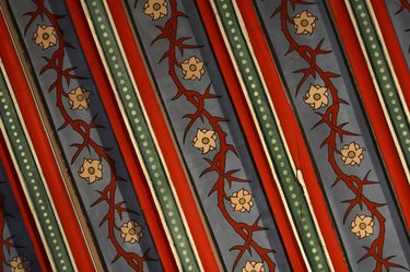 Colorful pattern of wallpaper