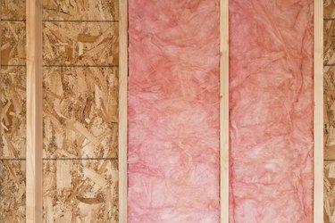 New Wall With Fiberglass Insulation