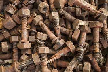 old rusty screw bolt texture