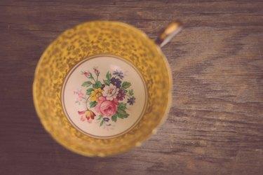 Gold Teacup