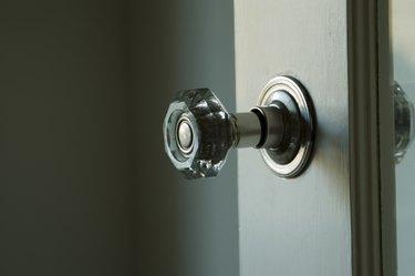 antique glass doorknob