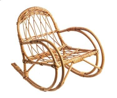 Rocking wicker chair