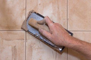 Hand Grouting Tile