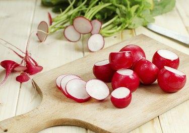 Fresh radish from ground
