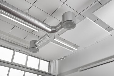 Climate control mounted under ceiling