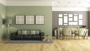 Green and brown modern lounge