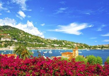 Beautiful Mediterranean Sea landscape. French riviera