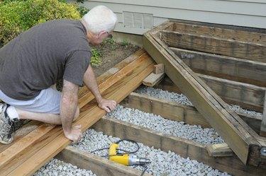 Installing Wood on Deck