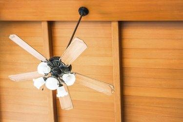 Beautiful hanging ceiling fan of oriental house