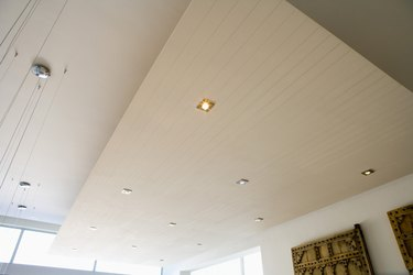 Ceiling with recessed lighting