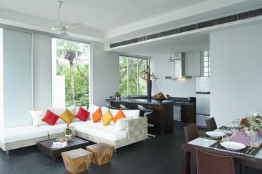 living room in a modern home