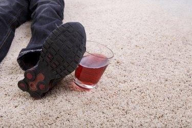 Foot Hitting Glass