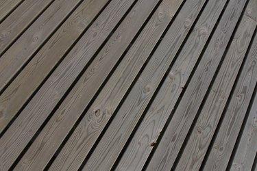 Wood deck planks