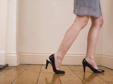 Woman with broken heel