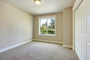 Bright empty bedroom