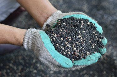 The mixed of plant chemical fertilizer