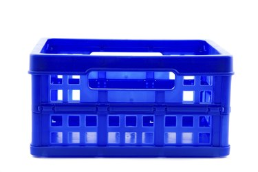 blue crate isolated on white