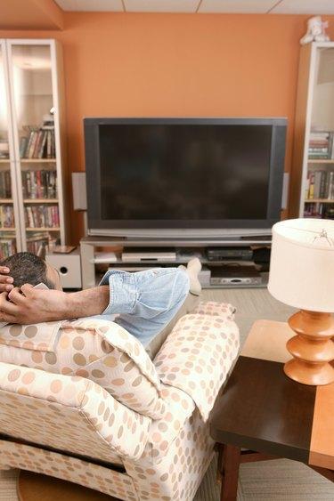 Man watching television