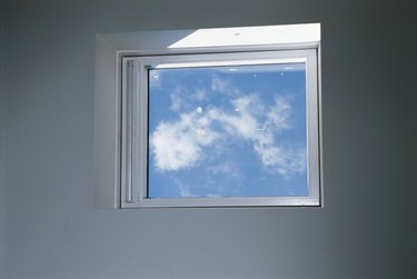 View of sky through glass window