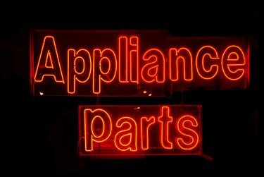Appliance Parts Sign