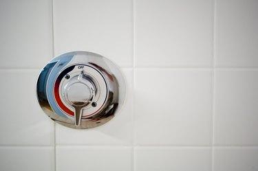 Close-up of shower knob