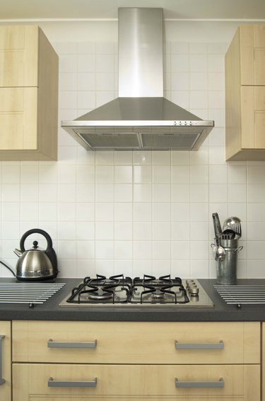 Modern design kitchen and gas stove