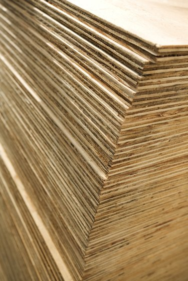 Stack of plywood