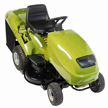 Elevated view of a tractor lawn-mower