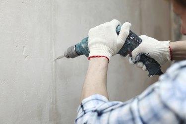 hammer drills wall