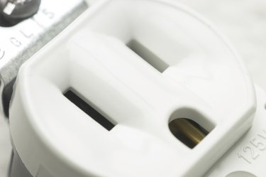 Close up of an electrical outlet