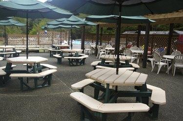 Picnic Area At Hot Springs Resort