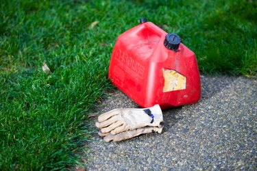 Gasoline Can With Gloves