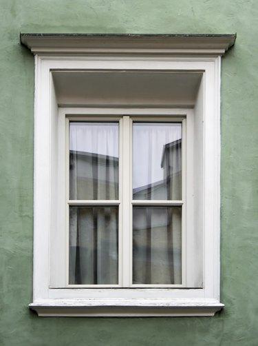 Typical alpine window frame decorated