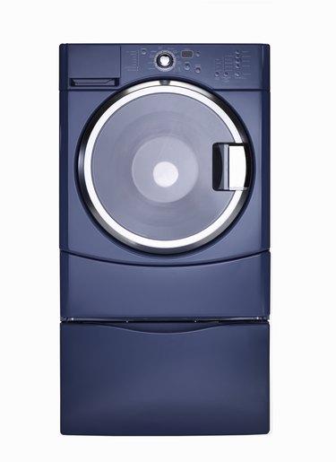 Steam technology washer, blue finish