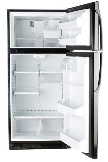 Open door on refrigerator
