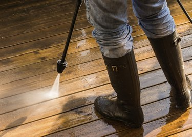 Cleaning Patio Decking