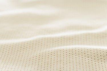 Close-up of a cotton polka dot sheet