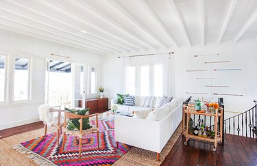 bright rug modern living room