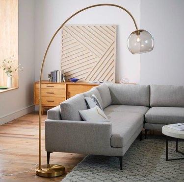 acrylic arc floor lamp