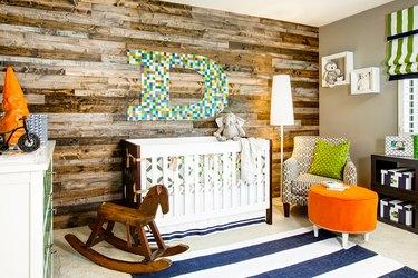 Rustic Modern Baby Room Idea