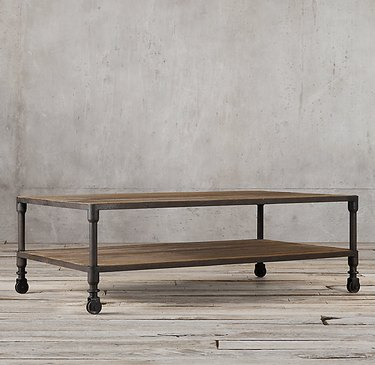 Restoration Hardware Dutch industrial coffee table.
