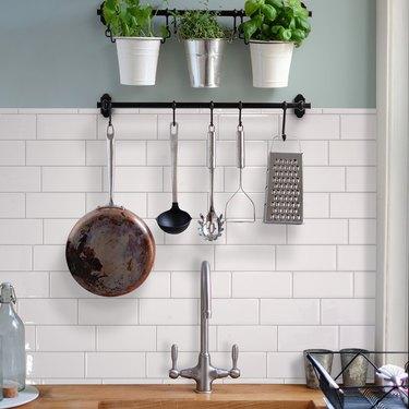 adhesive subway tile kitchen backsplash