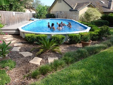 add plants around an above ground pool